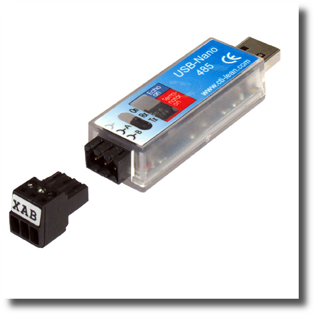 product information and ordering of USB-Nano-485 converter.